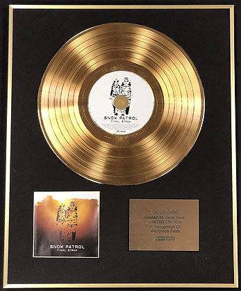 Snow Patrol - Exclusive Limited Edition 24 Carat Gold Disc - Final Straw