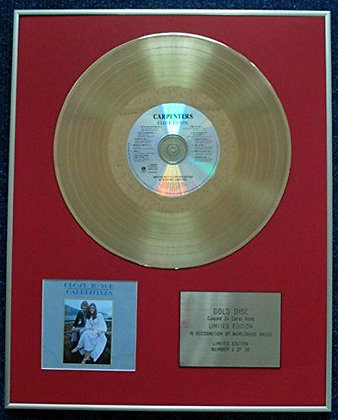 Carpenters - Limited Edition CD 24 Carat Gold Coated LP Disc - Close to You