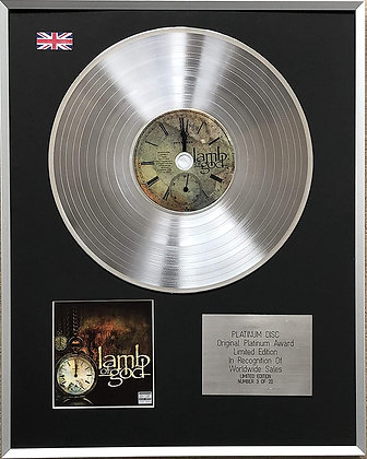 LAMB OF GOD - Limited Edition CD Platinum LP Disc - 'LAMB OF GOD'