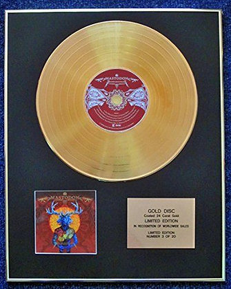 Mastodon - Limited Edition CD 24 Carat Gold Coated LP Disc - Blood Mountain