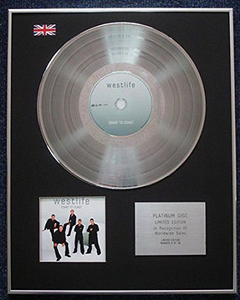 Westlife - Limited Edition CD Platinum LP Disc - Coast to Coast