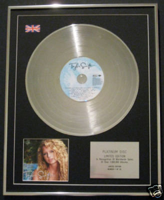 "TAYLOR SWIFT -Ltd Edt CD Platinum Disc- ""TAYLOR SWIFT"""