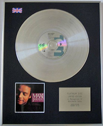 MAXI PRIEST - Limited Edition CD Platinum Disc - BEST OF ME