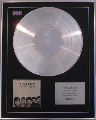 KAISER CHIEFS - Limited Edition CD Platinum Disc- YOURS TRULY, ANGRY MOB