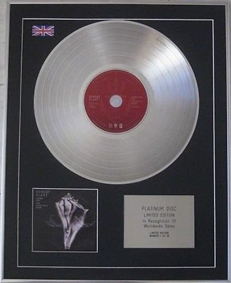 ROBERT PLANT -Limited Edition CD Platinum Disc -lullaby and --THE CARELESS ROAD