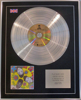 DE LA SOUL - Limited Edition CD Platinum Disc - 3 FEET HIGH AND RISING