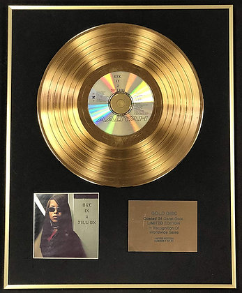 Aaliyah - Exclusive Limited Edition 24 Carat Gold Disc - One In A Million