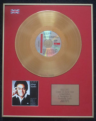 Johnny Mathis - Limited Edition CD 24 Carat Gold Coated LP Disc - The Hits of