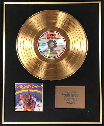 Rainbow - Exclusive Limited Edition 24 Carat Gold Disc - Blackmore's Rainbow