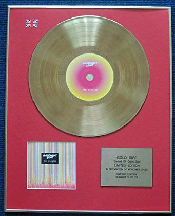 Basement Jaxx - Limited Edition CD 24 Carat Gold Coated LP Disc - The Singles
