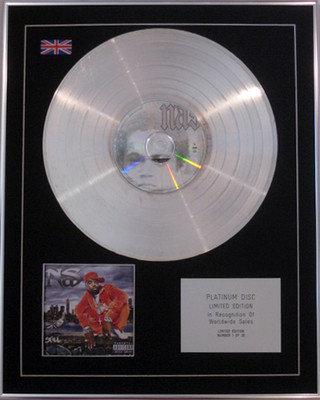 NAS - Ltd Edition CD Platinum Disc - STILLMATIC