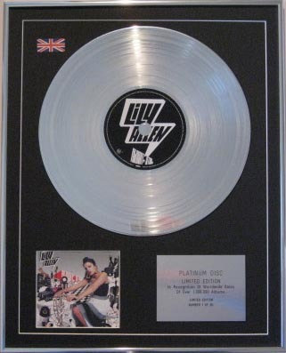 LILY ALLEN  - CD Platinum Disc- ALRIGHT , STILL...