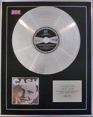 JOHNNY CASH - Limited Edition CD Platinum Disc - AMERICAN V1 (AIN'T NO GRAVE)