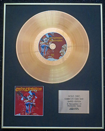 Bruce Dickinson (of Iron Maiden) - Exclusive Limited Edition 24 Carat Gold Disc