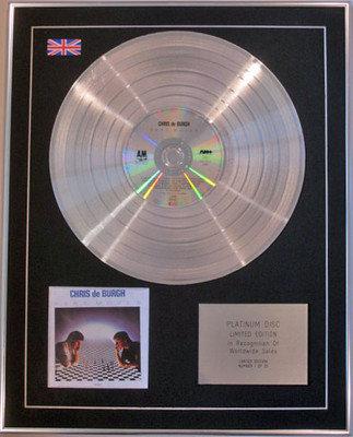 CHRIS DE BURGH - Limited Edition CD Platinum Disc - BEST MOVES