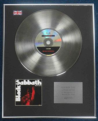 Black Sabbath - Limited Edition CD Platinum LP Disc - Iron Man