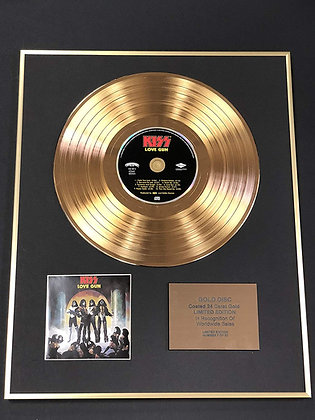 Kiss Exclusive Limited Edition 24 Carat Gold Disc - Love Gun