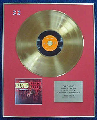 Elvis Presley - LTD Edition CD 24 Carat Gold Coated LP Disc - Elvis in Memphis