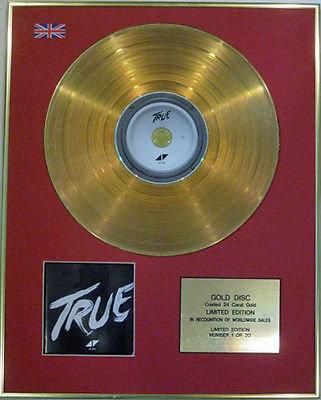 AVICII - Ltd Edition CD  24 Carat Gold Disc - TRUE
