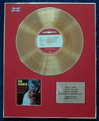 Dinah Washington - CD 24 Carat Gold Coated LP Disc - Drinking Again