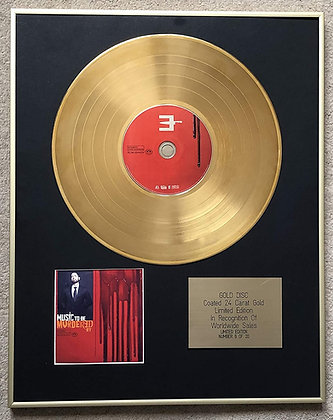 EMINEM - Exclusive Limited Edition 24 Carat Gold Disc - MUSIC TO BE MURDERED BY