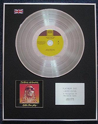Stevie wonder - Limited Edition CD Platinum LP Disc - Hotter than July