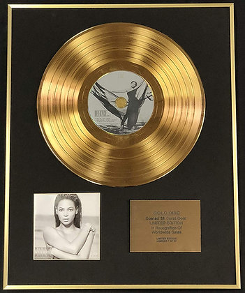 Beyonce - Exclusive Limited Edition 24 Carat Gold Disc - I Am Sasha Fierce