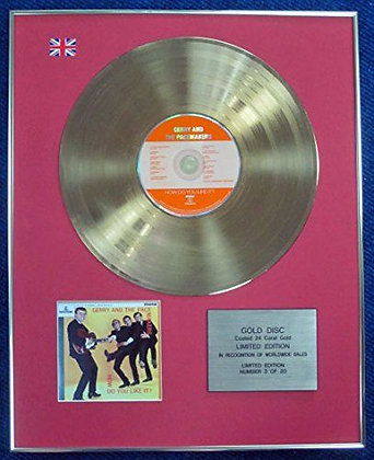 Gerry & Pacemakers- LTD Edition CD 24 Carat Gold Coated LP Disc - Do you like it