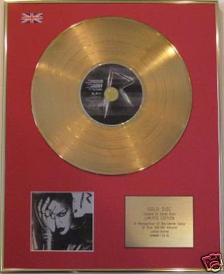 RIHANNA - Ltd Edt CD Gold Disc- RATED R