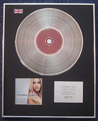 Christina Aguilera - Limited Edtn CD Platinum LP Disc - Mi Reflejo