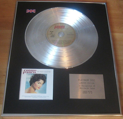 CONNIE FRANCIS - CD Platinum Disc - THE SINGLES COLLECTION