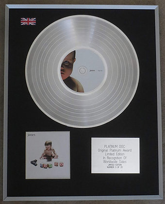 JAMES - Limited Edition CD Platinum Disc - THE COLLECTION