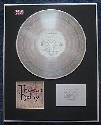 Thomas Dolby - Limited Edition CD Platinum LP Disc - Astronauts and Heretics