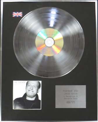 JOE COCKER - Limited Edition CD Platinum Disc - GREATEST HITS