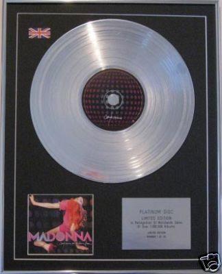 MADONNA  CD Platinum Disc -CONFESSIONS ON A DANCE FLOOR