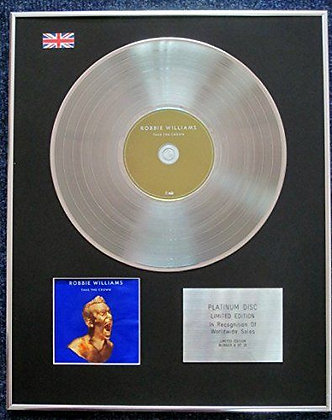 Robbie Williams - Limited Edition CD Platinum LP Disc - Take the Crown