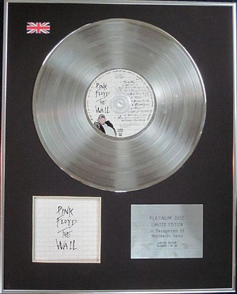 PINK FLOYD - Limited Edition CD Platinum Disc - THE WALL
