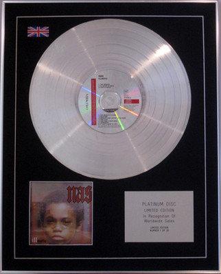 NAS - Ltd Edition CD Platinum Disc - ILLMATIC