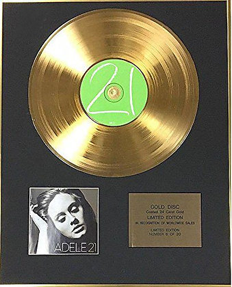 Adele - Exclusive Limited Edition 24 Carat Gold Disc - 21