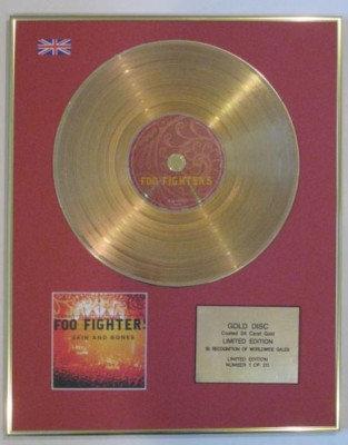 FOO FIGHTERS - Ltd Edtn CD Gold Disc- SKIN AND BONES