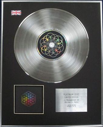COLDPLAY - Limited Edition CD Platinum Disc - A HEADFULL OF DREAMS