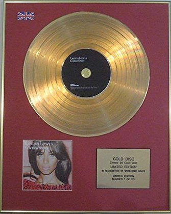 LEONA LEWIS - Limited Edition 24 Carat CD Gold Disc - GLASS HEART