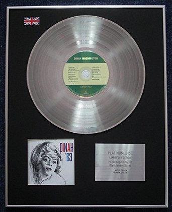 Dinah Washington - Limited Edition CD Platinum LP Disc - Dinah 63