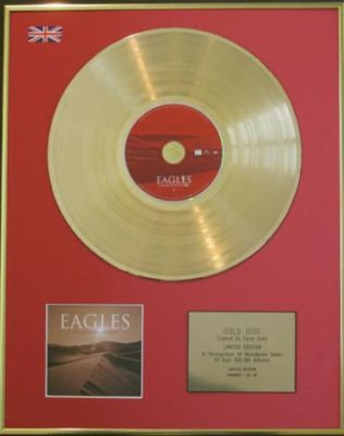 EAGLES - CD 24 Carat Gold Disc - LONG ROAD OUT OF EDEN