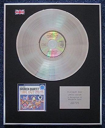 The Dave Brubeck Quartet - Limited Edition CD Platinum LP Disc -Time Out