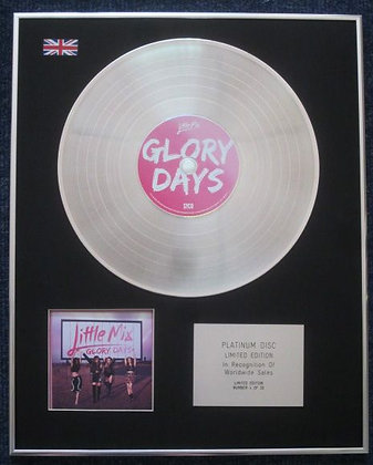 LITTLE MIX - Limited Edition CD Platinum LP Disc - GLORY DAYS