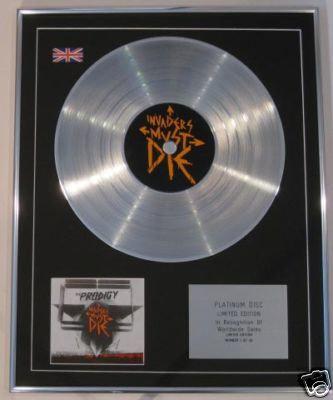 PRODIGY - Ltd Edt CD Platinum Disc - INVADERS MUST DIE