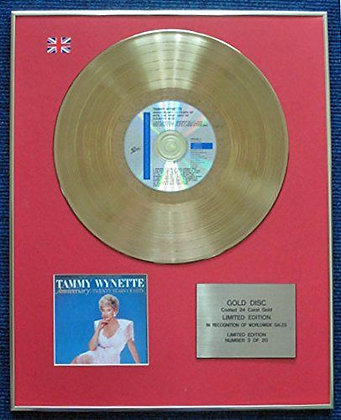 Tammy Wynette - Limited Edition CD 24 Carat Gold Coated LP Disc - Anniversary