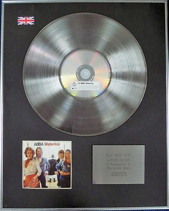 ABBA - Limited Edition CD Platinum Disc - WATERLOO