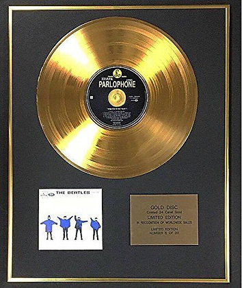 The Beatles - Exclusive Limited Edition 24 Carat Gold Disc - Help!